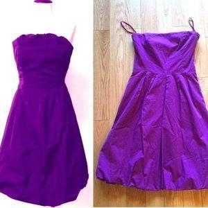 Vintage Purple Bubble Hem Dress - Super Flattering